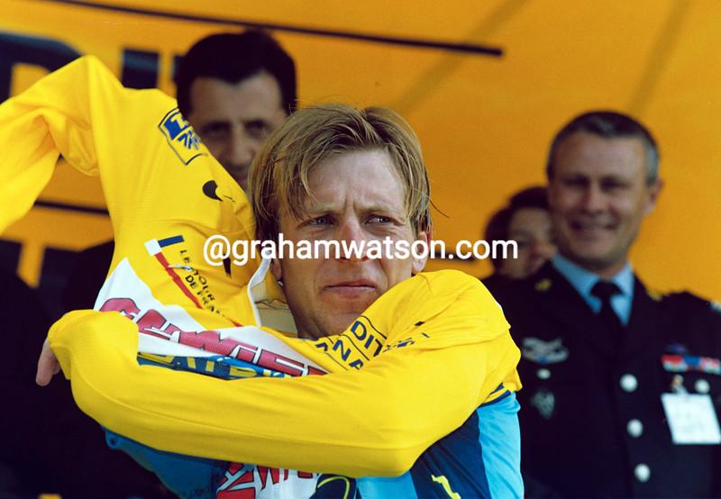 Evgeni Berzin in the 1996 Tour de France
