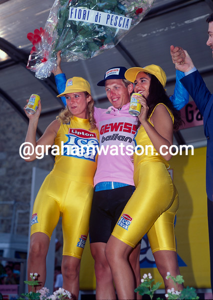 Evgeni Berzin in the 1994 Giro d'Italia