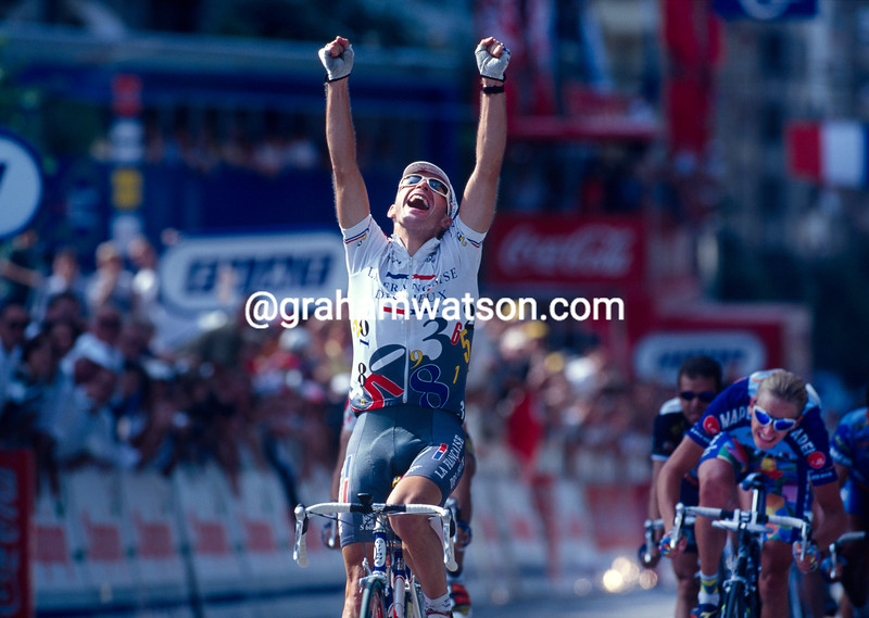 Christophe Mengin wins a stage in the 1997 Tour de France
