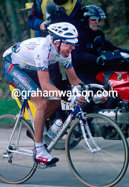 Frederic Guesdon in the 1997 Tour of Flanders