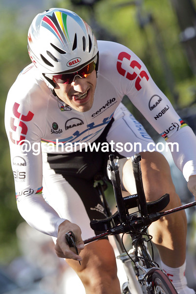 FABIEN CANCELLARA IN THE PROLOGUE OF THE 2007 TOUR DE SUISSE