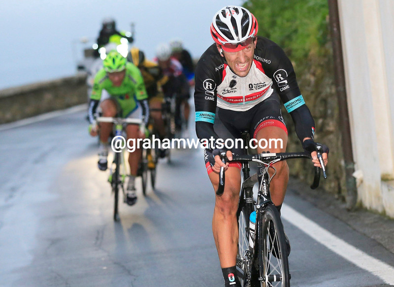Fabian Cancellara launches an attack during the final stages of the 2013 Milan San Remo