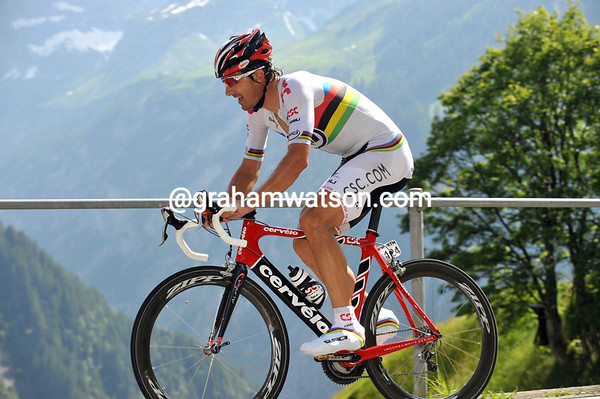 FABIEN CANCELLARA ON STAGE EIGHT OF THE 2008 TOUR DE SUISSE