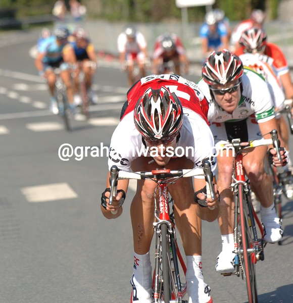 FABIAN CANCELLARA STARTS AN ATTACK IN THE ELITE MEN'S ROAD RACE IN SALZBURG