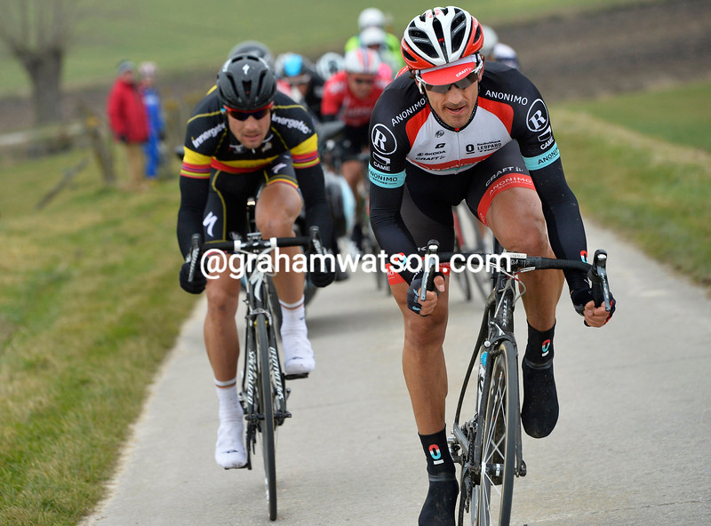 Fabian Cancellara escapes in the 2013 E3 Harelbeke