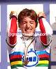 FABIAN CANCELLARA CELEBRATES WINNING THE GOLD MEDAL IN THE ELITE MEN'S TIME TRIAL WORLD CHAMPIONSHIP IN SALZBURG