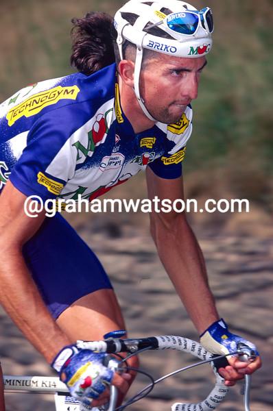 Fabio Baldato in the 1992 Tour of Flanders
