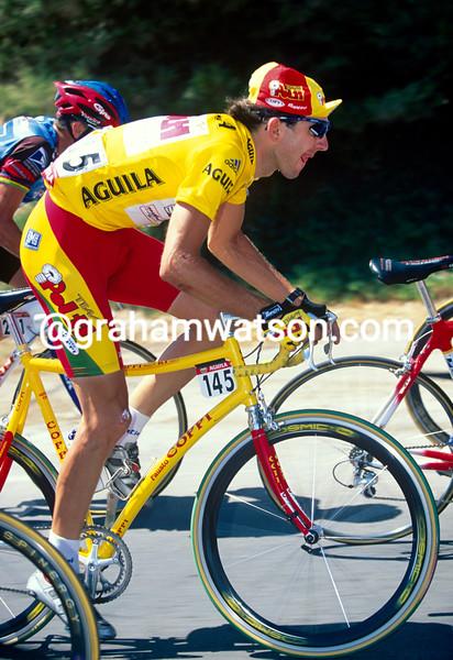 Fabrizio Guidi on a stage of the 2000 Vuelta a Espana