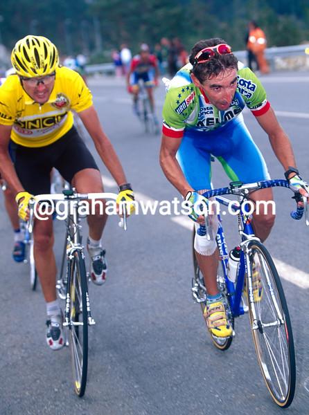 Fernando Escartin in the 1996 Tour of Spain