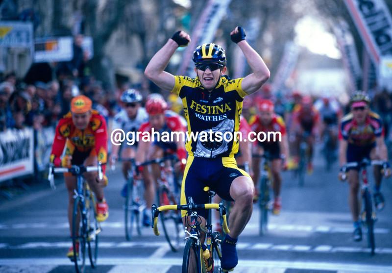 Steffen Radochla wins a stage of the 2001 Etoile de Besseges