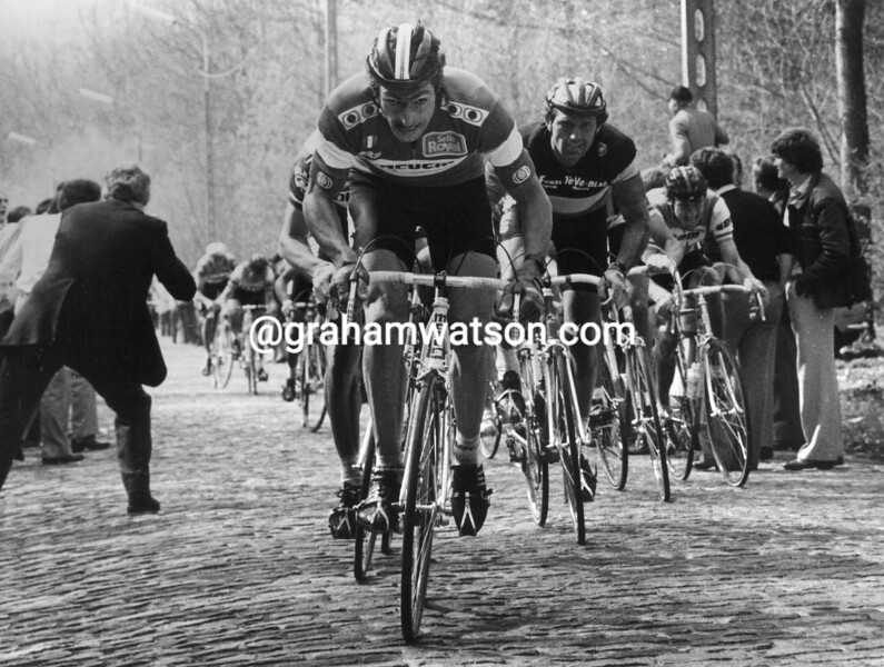 FRANCESCO MOSER IN THE 1980 TOUR OF FLANDERS