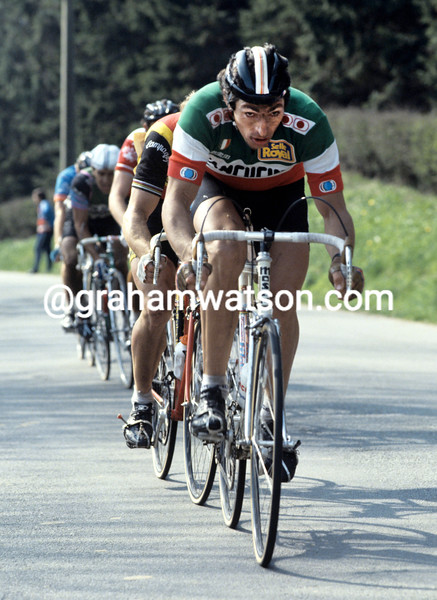 FRANCESCO MOSER IN THE 1981 TOUR OF FLANDERS