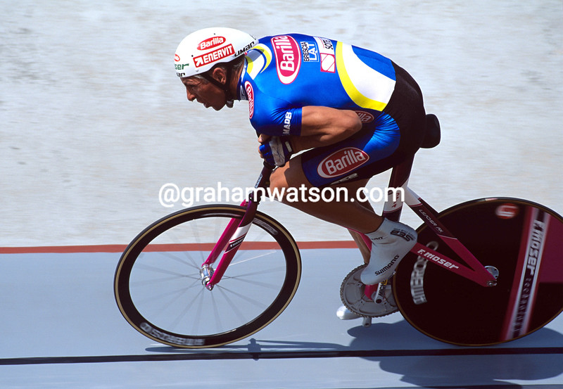 FRANCESCO MOSER IN THE 1994 HOUR RECORD ATTEMPT IN MEXICO CITY