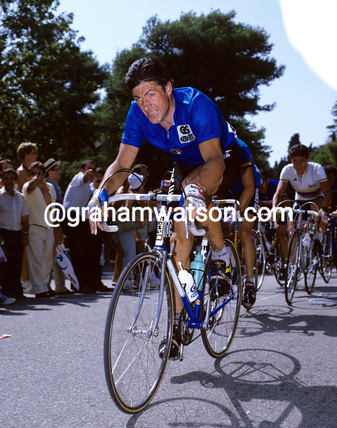 Francesco Moser in the 1984 world championships in Barcelona