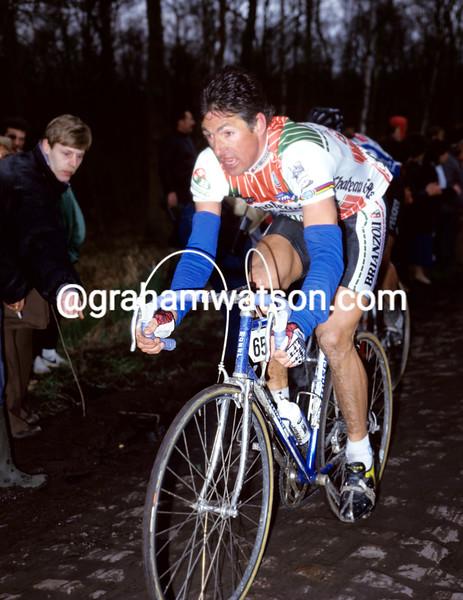 FRANCESCO MOSER IN THE 1986 PARIS-ROUBAIX