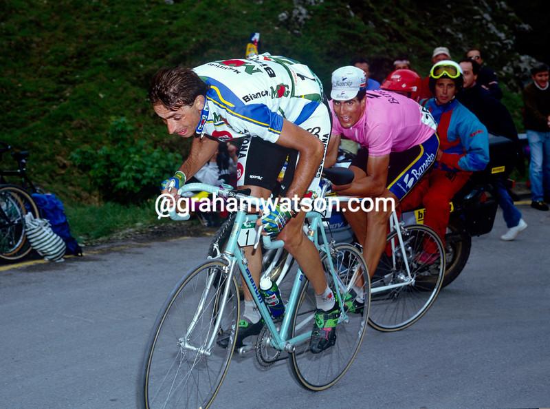 Franco Chioccioli in the 1993 Giro d'Italia