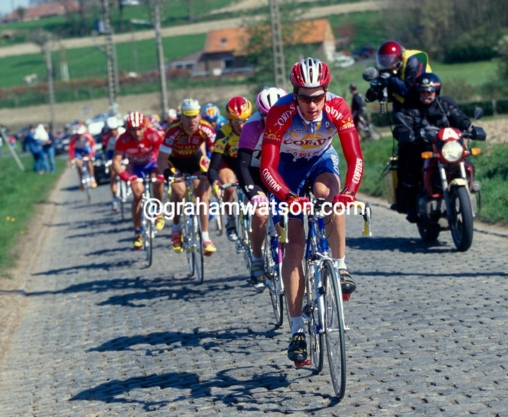 Franky Andreu in the 1997 Tour of Flanders
