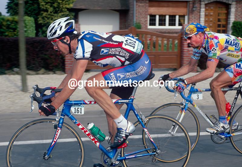 Franky Andreu in the 2000 Paris-Roubaix