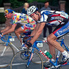 Franky Andreu with Johan Museeuw in the 2000 Paris-Roubaix