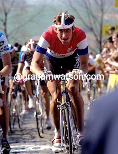 Frans Massen in the 1990 Tour of Flanders
