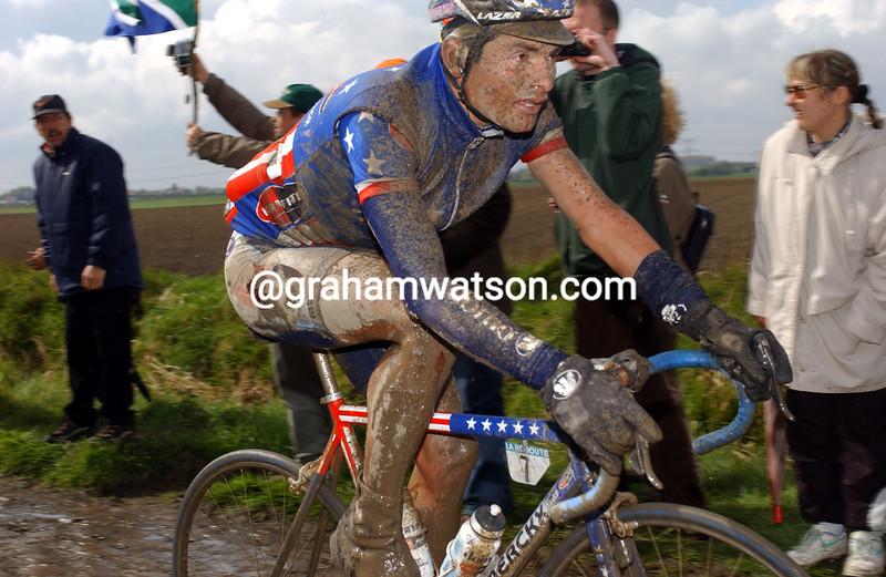 Fred Rodriguez in the 2001 Paris-Roubaix