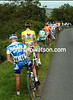 THE PELOTON STOPS FOR A PEE,PEE ON STAGE THREE OF THE 2007 TOUR DE FRANCE