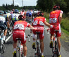 THREE COFIDIS CYCLISTS ON STAGE EIGHT OF THE 2011 TOUR DE FRANCE