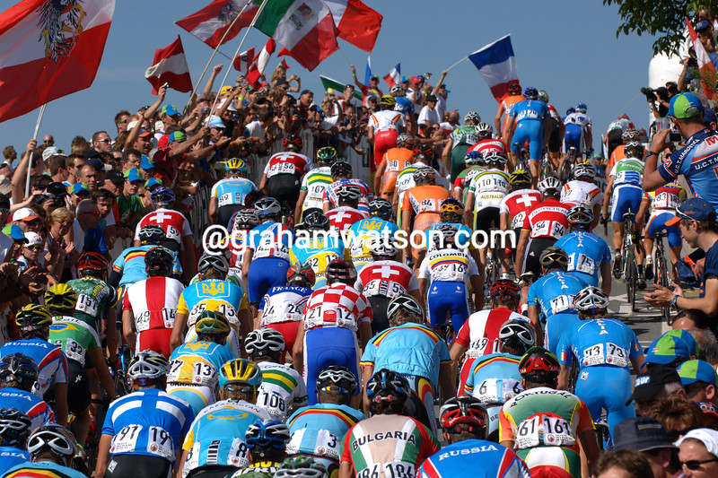 The peloton in the 2006 World Championships in Salzburg, Austria