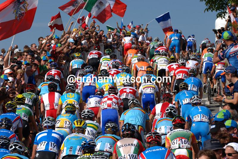 The peloton in the 2006 World Championships in Salzburg, Austria