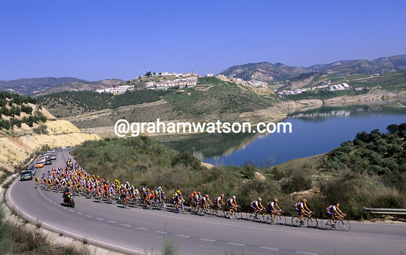 Cyclists in the 1997 Ruta del Sol