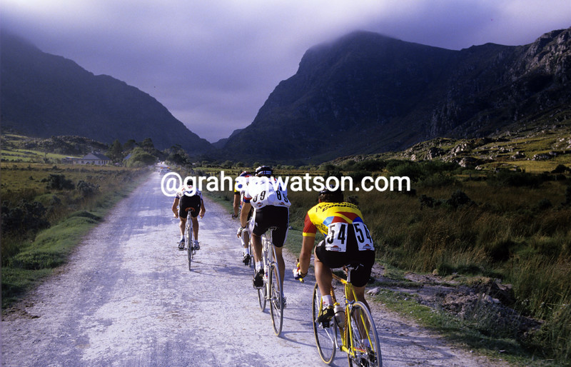 Cyclists in the 1986 Tour of Ireland