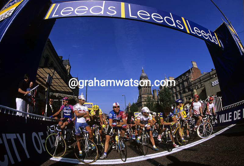 Cyclists in the Leeds Classic