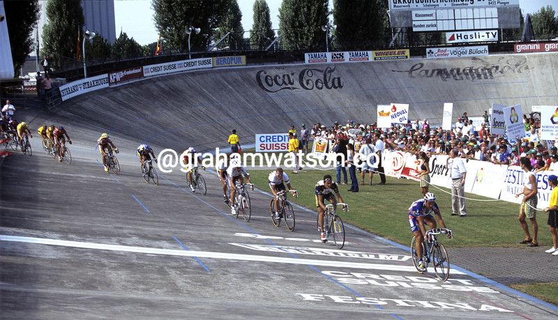 The Zurich Championship arrives on the Oerliken velodrome in 1997