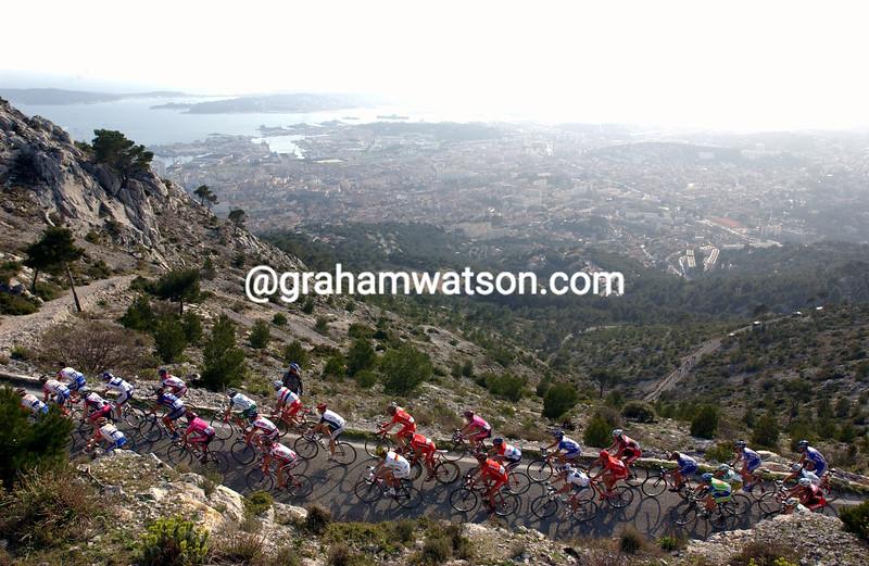 The Tour Mediterranean climbs Mont Faron in 2004