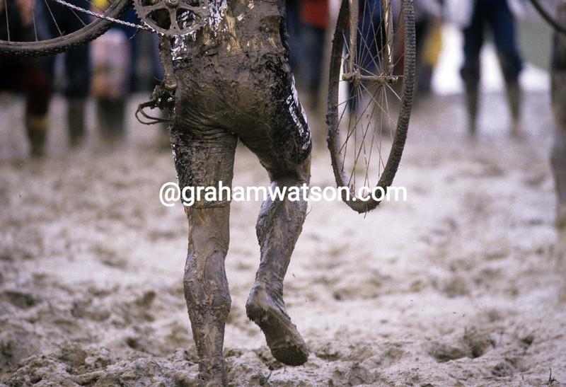 A cyclo-cross rider in 1983