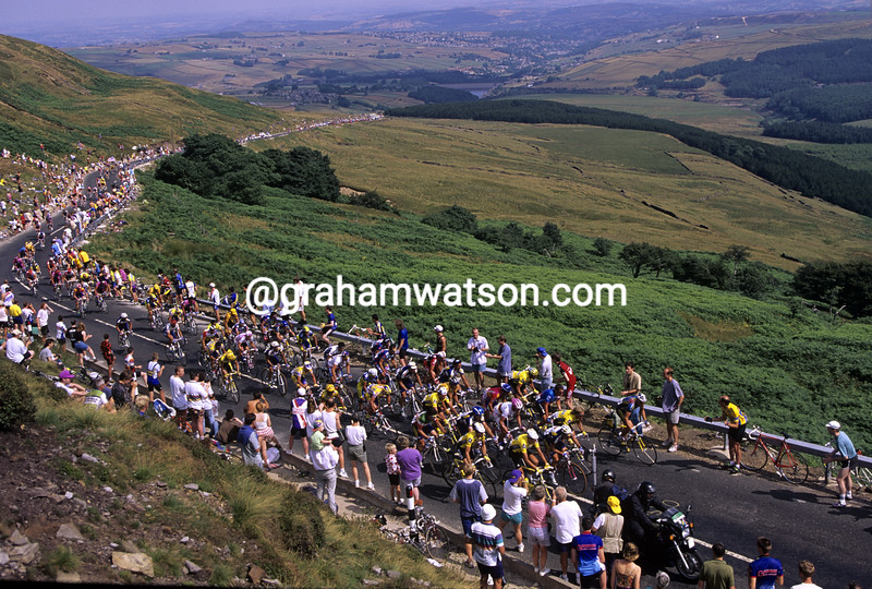 Cyclists in the 1990 Tour of Britain