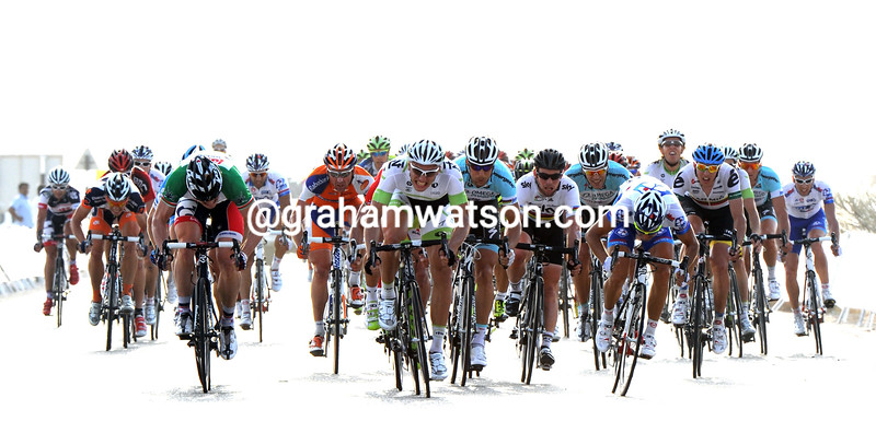 Marcel Kittel wins stage three of the 2012 Tour of Oman