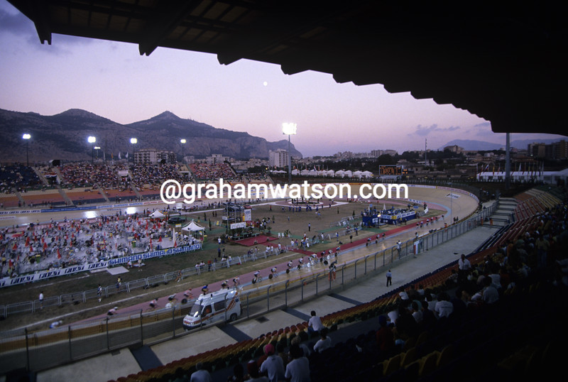 The velodrome in Sicily for the 1994 World Championships