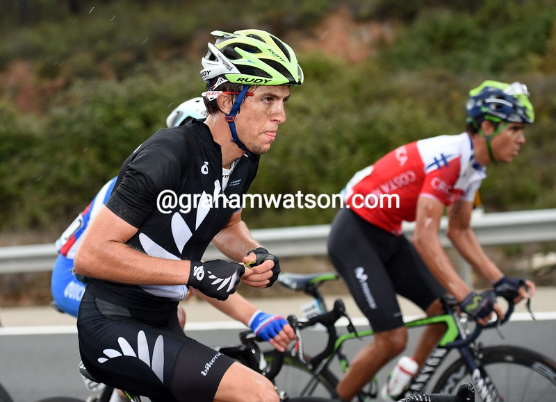 George Bennett in the mens road race at the 2014 World Road Championships