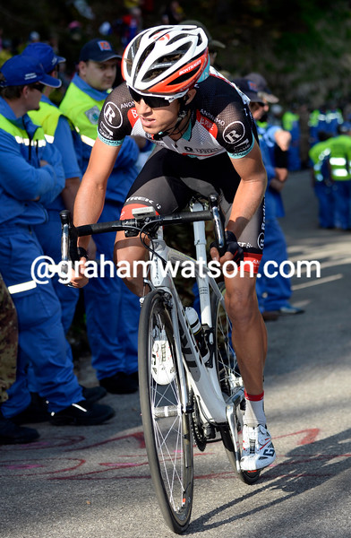 George Bennett on stage ten at the 2013 Giro d'Italia