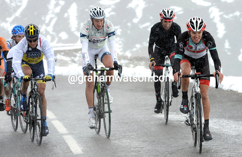 George Bennett on stage fifteen at the 2013 Giro d'Italia