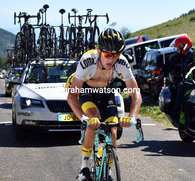 George Bennett on stage 15 of the 2016 Tour de France