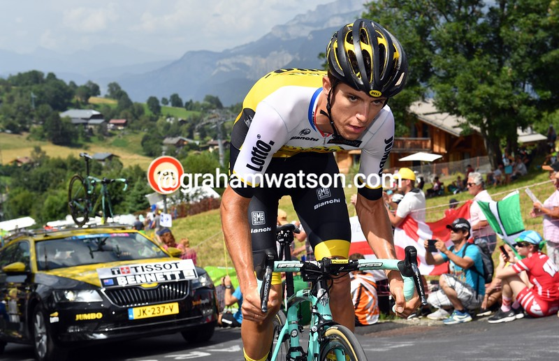 George Bennett on stage 18 of the 2016 Tour de France