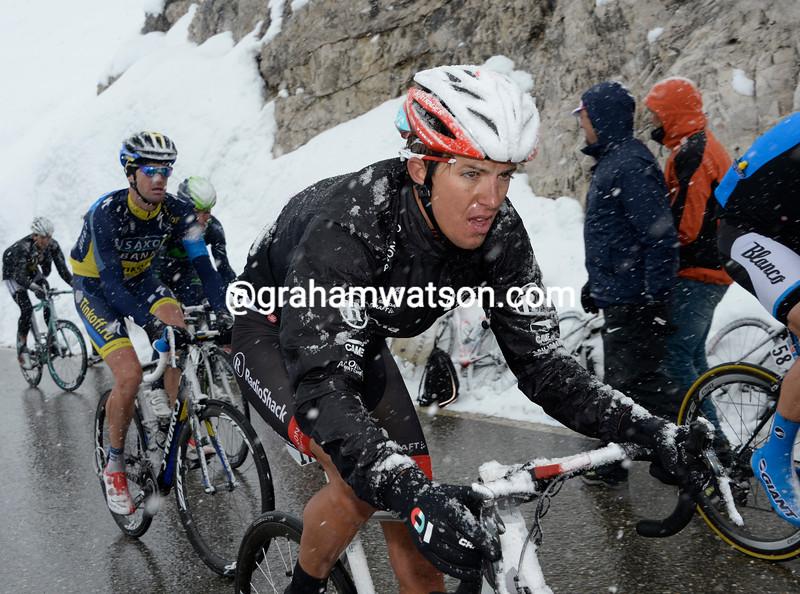 George Bennett on stage twenty at the 2013 Giro d'Italia