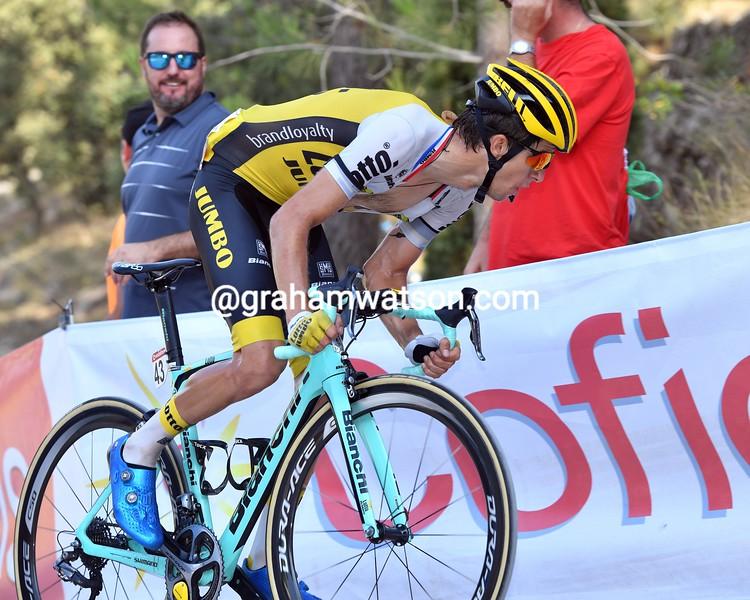 George Bennett on stage 17 of the 2016 Vuelta a España