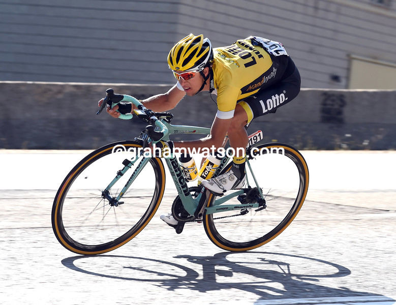 George Bennett on stage twenty of the 2015 Tour of Spain