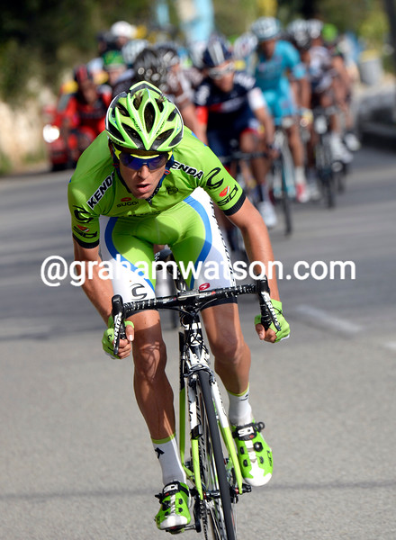 George Bennett attacks on stage eight of the 2014 Paris-Nice