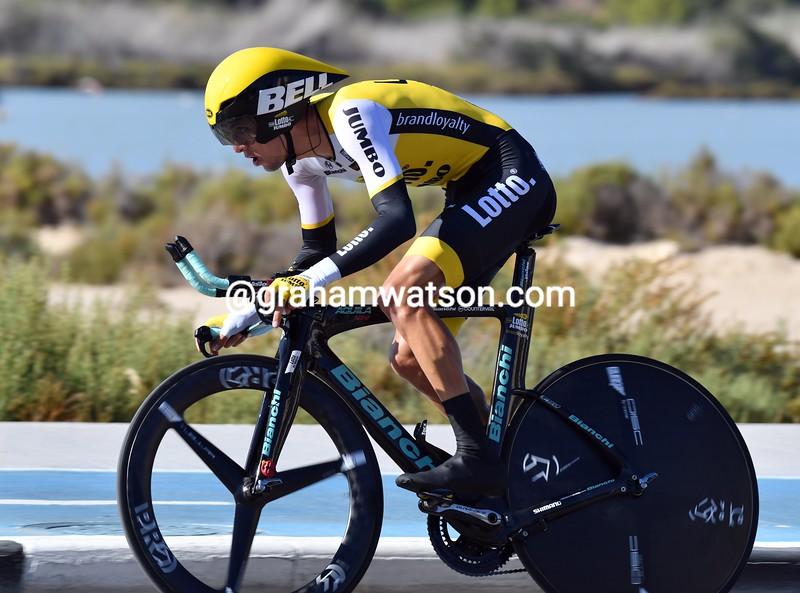 George Bennett on stage 19 of the 2016 Vuelta a España