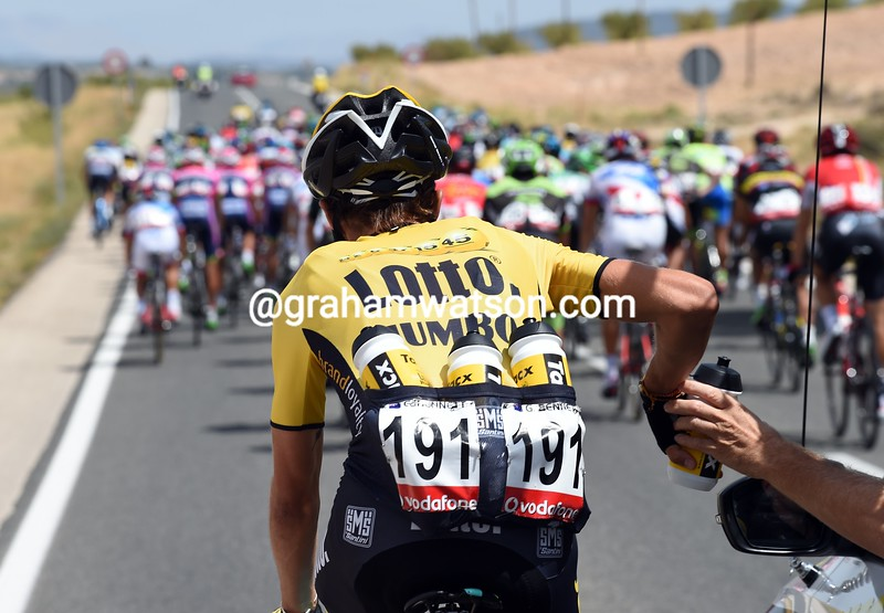 George Bennett on stage eight of the 2015 Tour of Spain