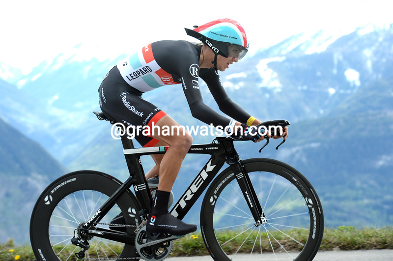 George Bennett on stage five of the 2012 Tour de Romandie